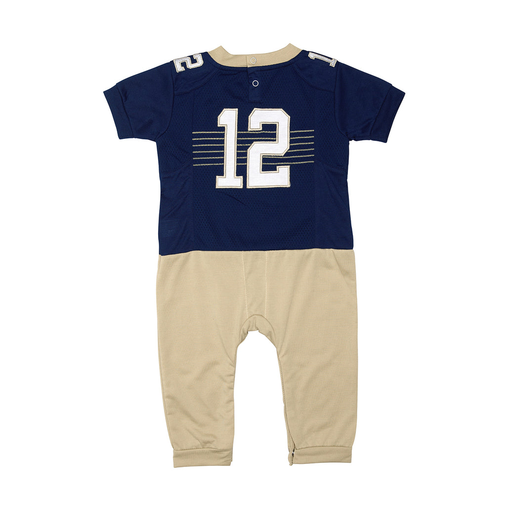 "United States Naval Academy ""Onesie"" Baby and Infant Football Uniform Pajama"