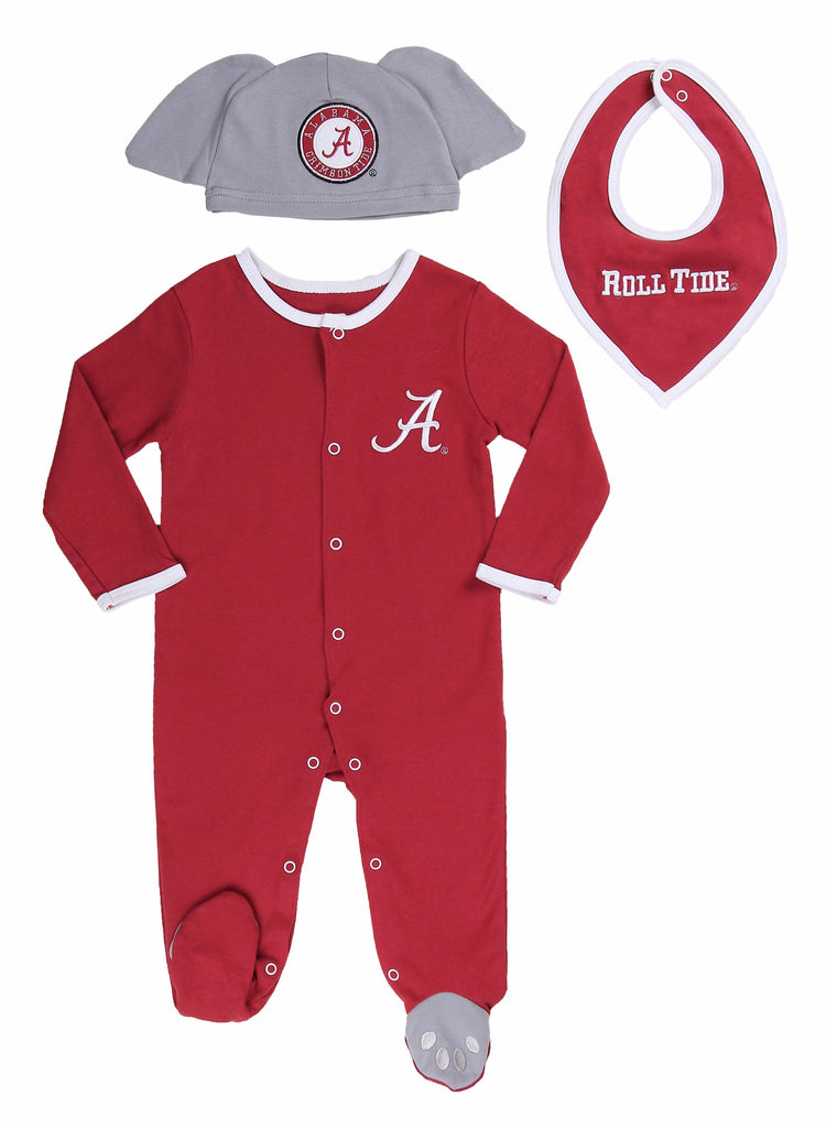 "University of Alabama Boys ""Three-Piece"" Sleeper Set - Fast Asleep PJ's"