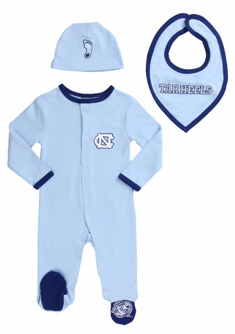 "University of North Carolina UNC Girls ""Three-Piece"" Sleeper Set"