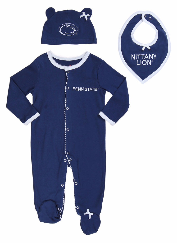 "Penn State Girls ""Three-Piece"" Sleeper Set - Fast Asleep PJ's"