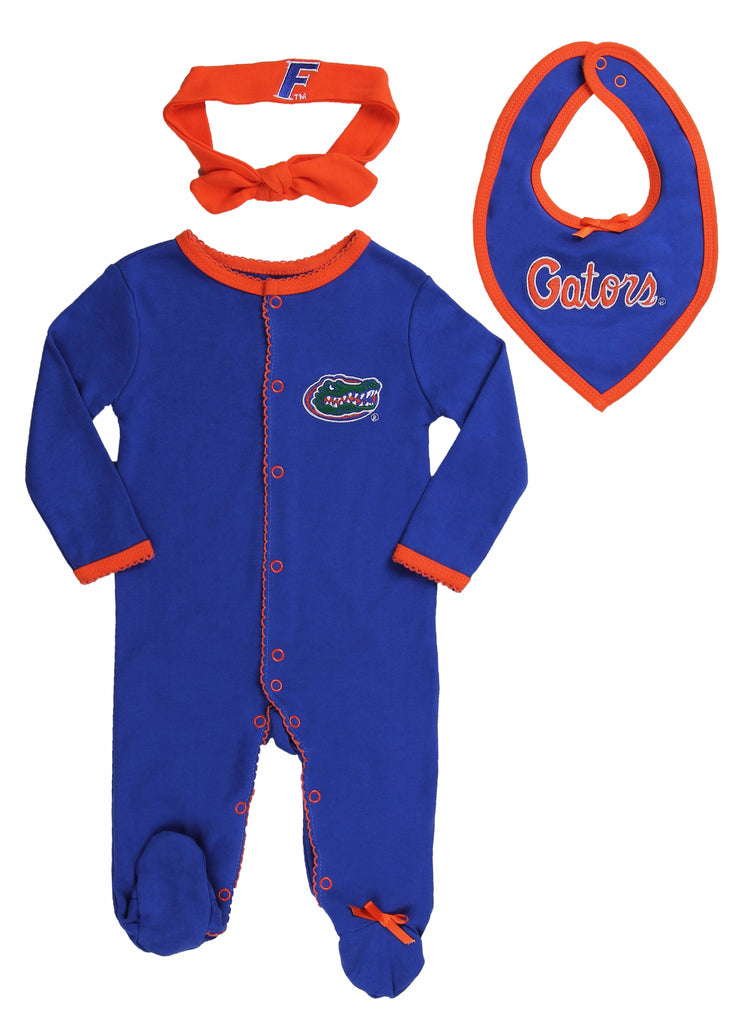 "University of Florida Girls ""Three-Piece"" Sleeper Set - Fast Asleep PJ's"