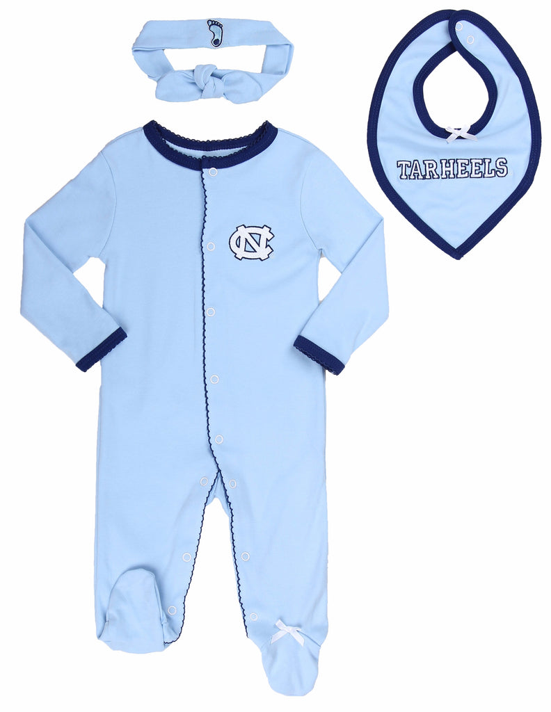 "University of North Carolina UNC Girls ""Three-Piece"" Sleeper Set - Fast Asleep PJ's"