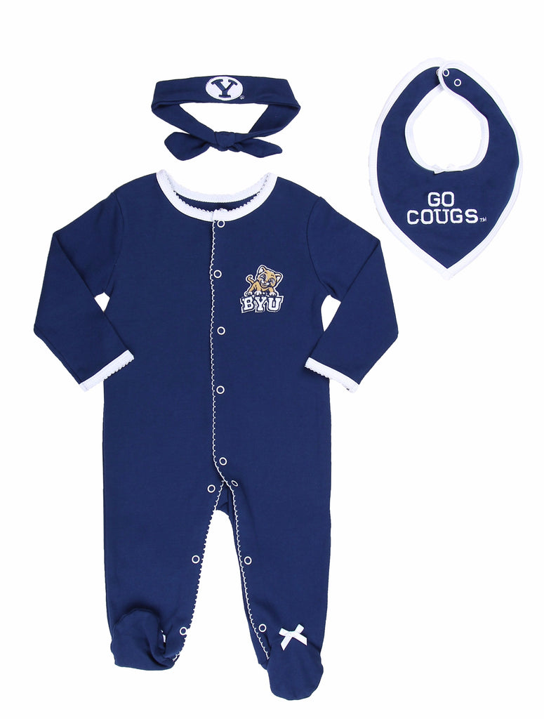 "BYU Girls ""Three-Piece"" Sleeper Set - Fast Asleep PJ's"