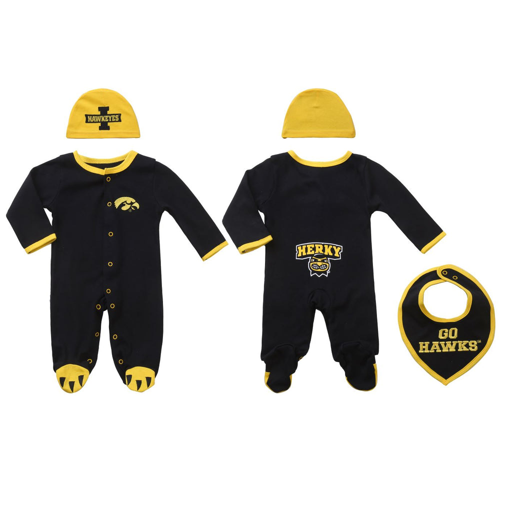 "University of Iowa Boys ""Three-Piece"" Sleeper Set"