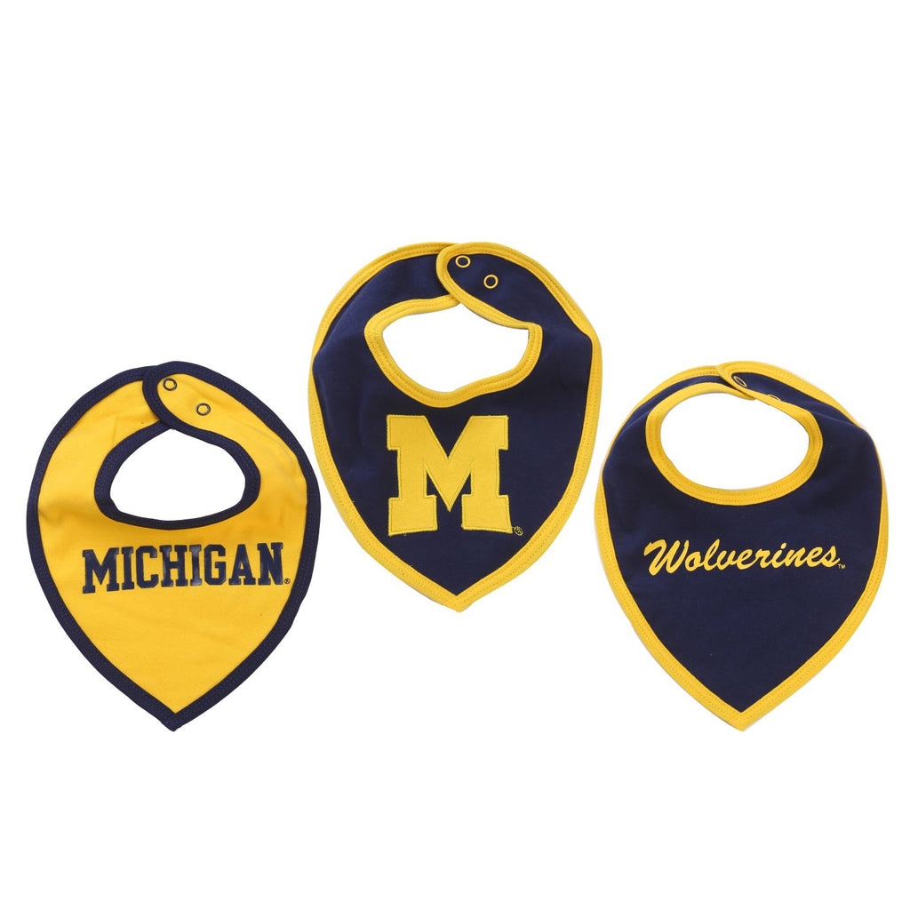 NCAA Michigan Wolverines Baby Boy and Girl Bib