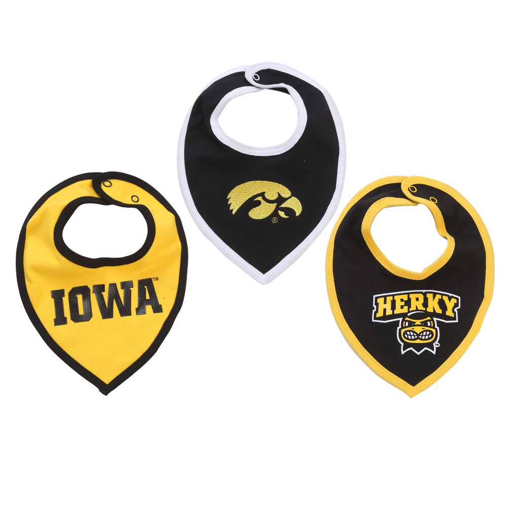 NCAA Iowa Hawkeyes Bib Baby Boy and Girl