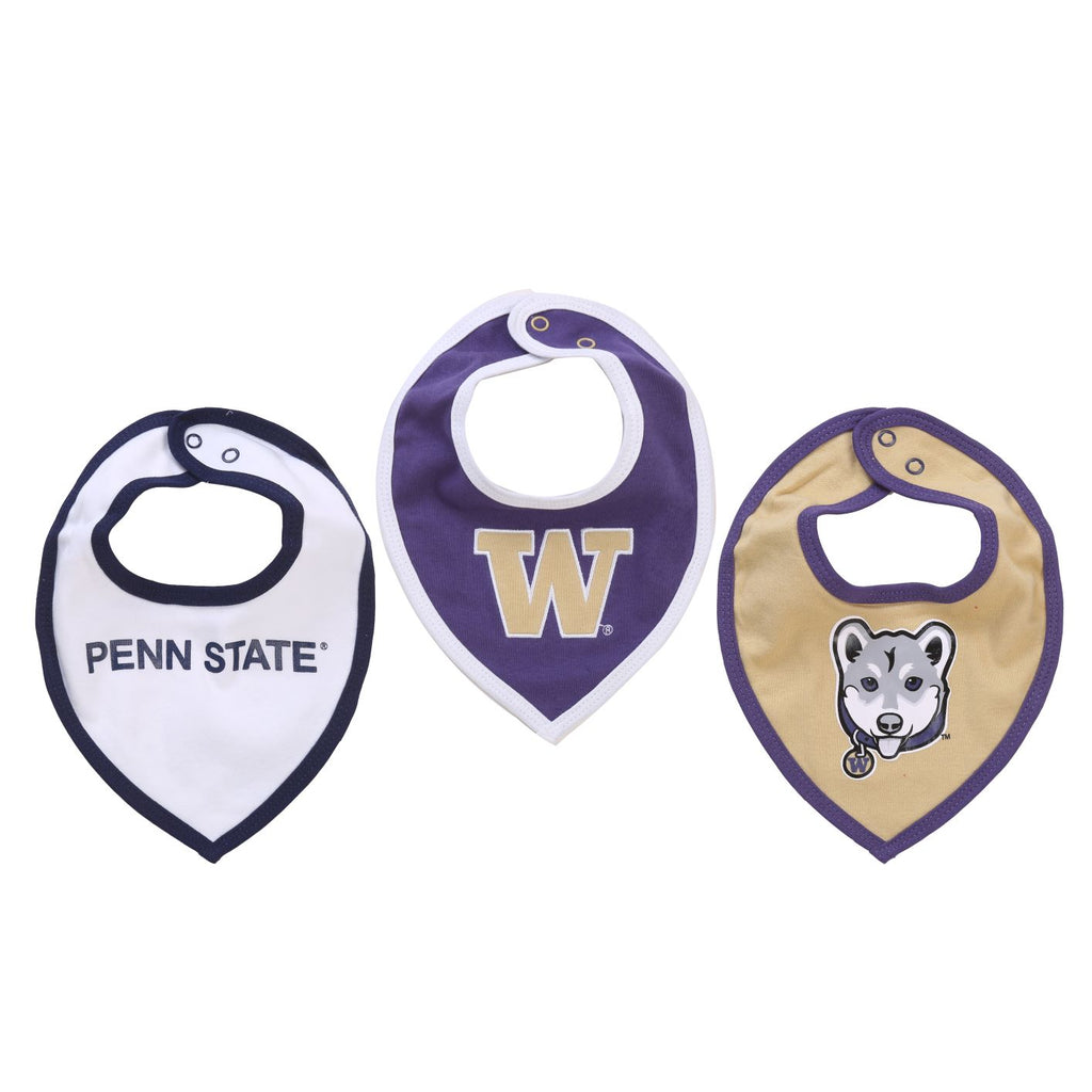 NCAA Washington Huskies Baby Boy and Girl Bib