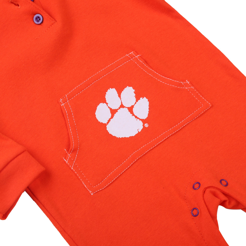 Clemson Tigers Baby and Toddler Hooded Romper