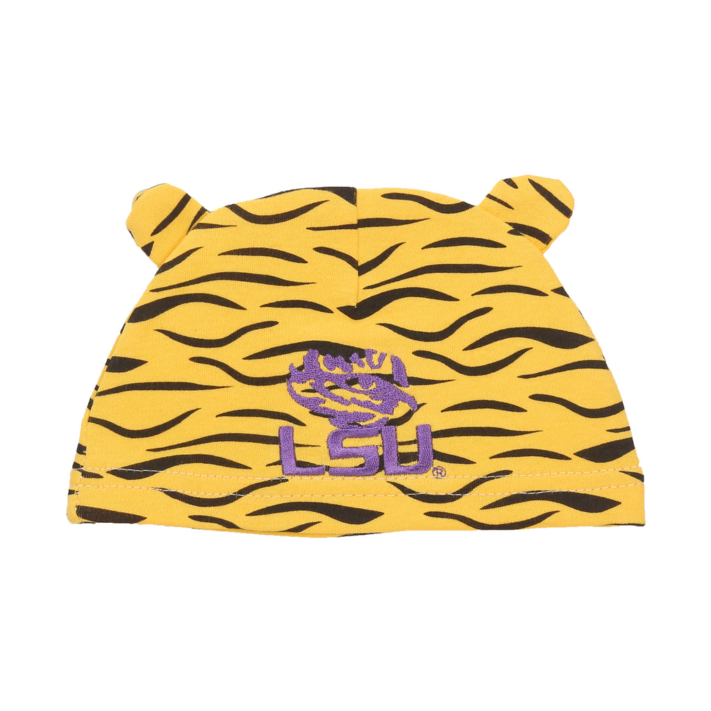 LSU Tigers Baby (3 pc) Footie, Bib and Had Set