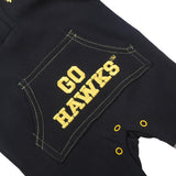 Iowa Hawkeyes Baby and Toddler Hooded Romper