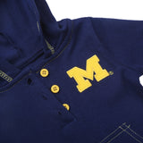 Michigan Wolverines Baby and Toddler Hooded Romper