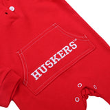 Nebraska Cornhuskers Baby and Toddler Hooded Romper