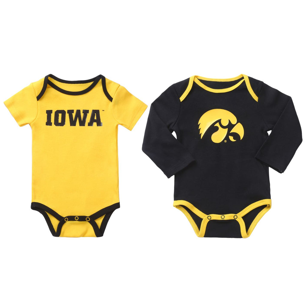NCAA Iowa Hawkeyes 2 pcs Baby Bodysuits
