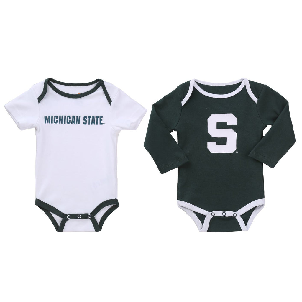 NCAA Michigan State Spartan 2 pcs Baby Bodysuits