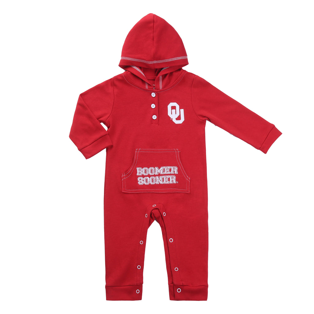 Oklahoma Sooner Baby and Toddler Hooded Romper