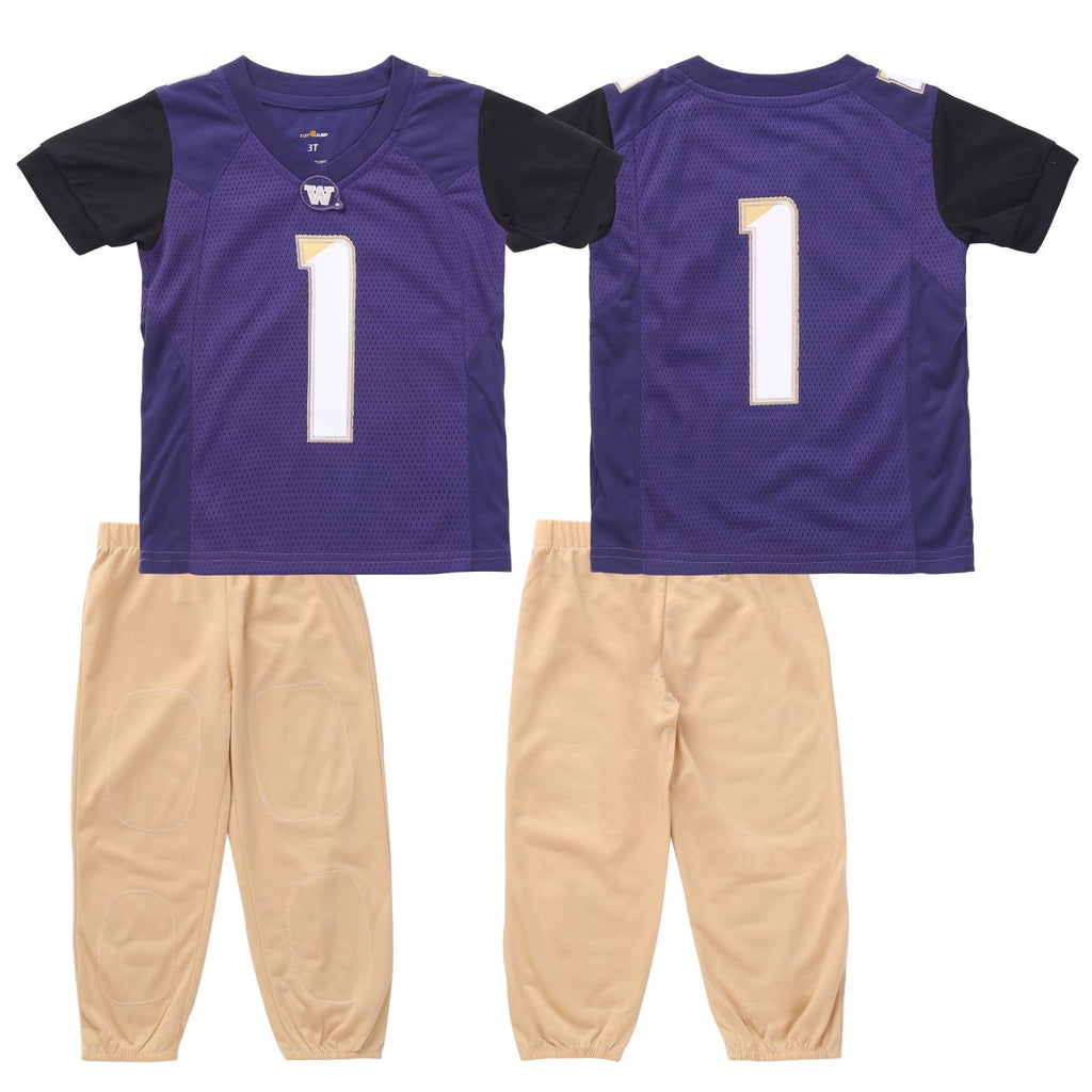"University of Washington ""Two-Piece"" Toddler Football Uniform Pajama Set"