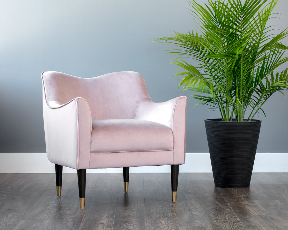 BOW ARMCHAIR - BLUSH
