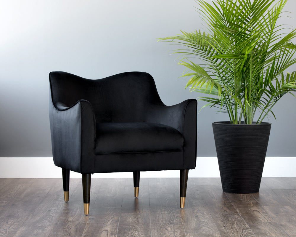 BOW ARMCHAIR - BLACK