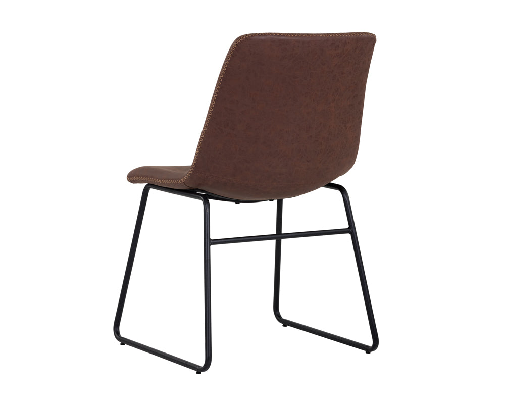 CAL DINING CHAIR - ANTIQUE BROWN