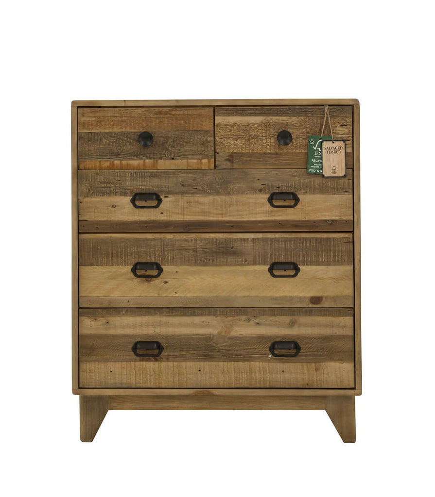 Campestre Modern 5 Drawer Chest