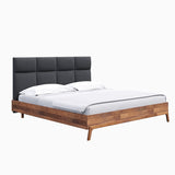 REMIX QUEEN BED - GREY