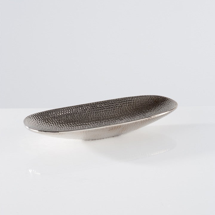 Helio Hammered Ceramic Platter