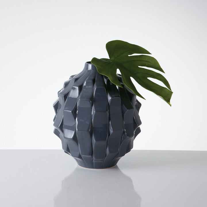 Pino Wedge Ceramic Ball Vase