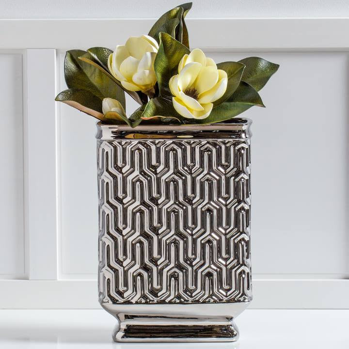 Maze Rectangle Pedestal Vase