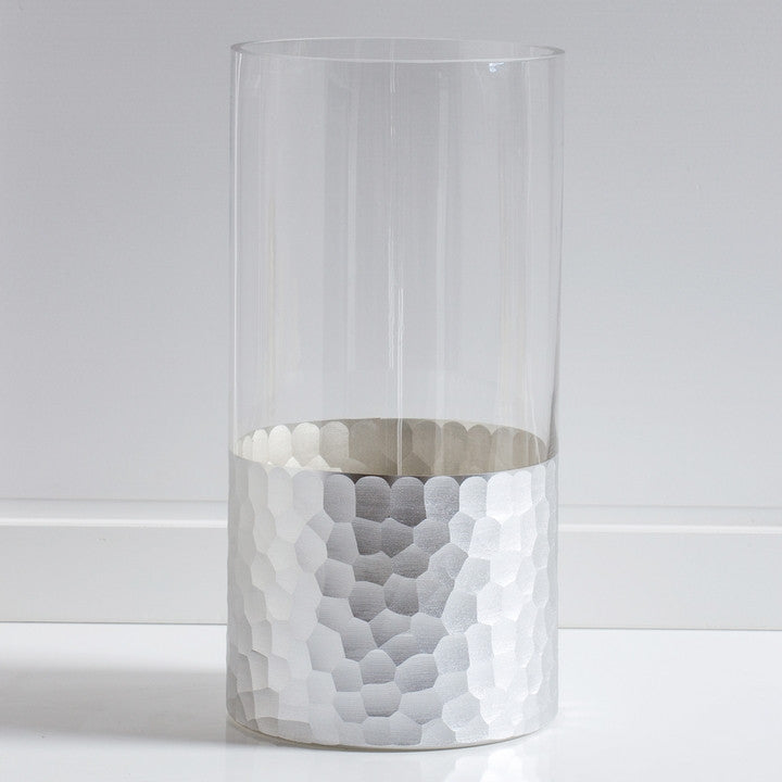 Divan Cut Glass Base Hurricane Vase