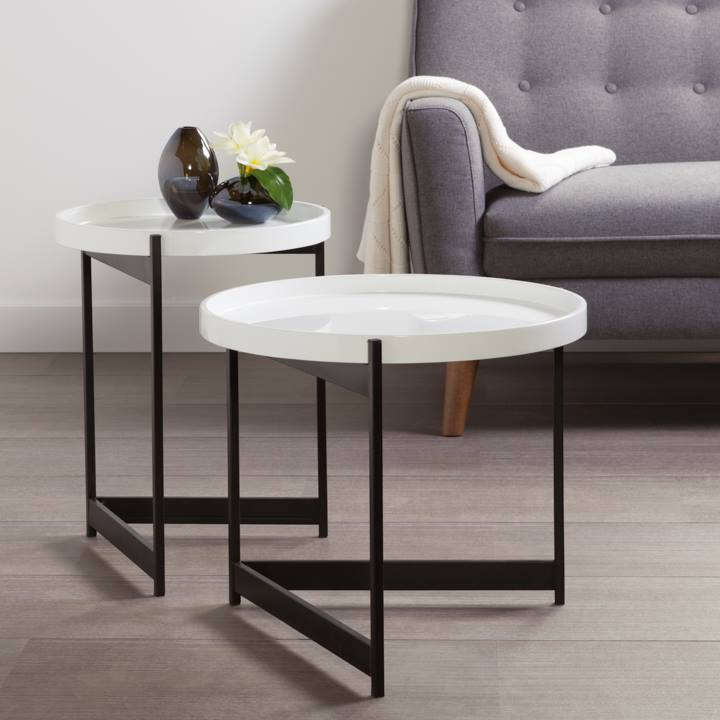 Tersera Removeable Tray 2 Piece Table Set