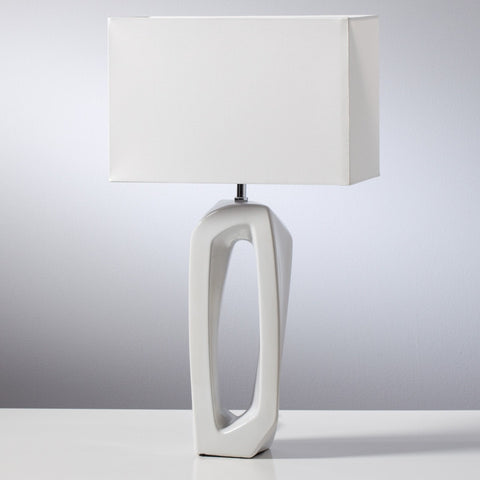 Whitewash Resin Lamp