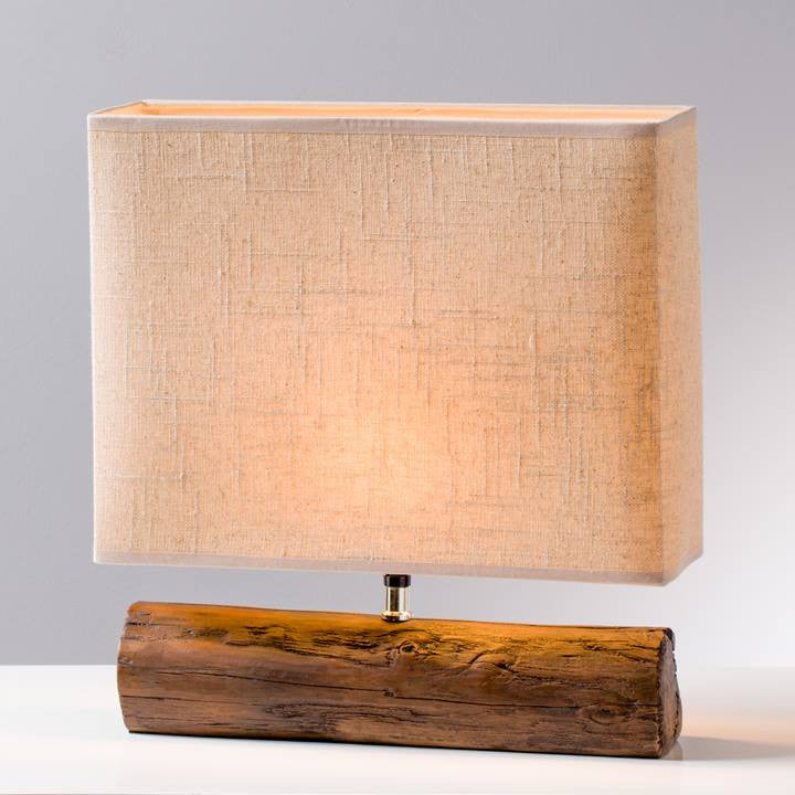 Resin Log Lamp