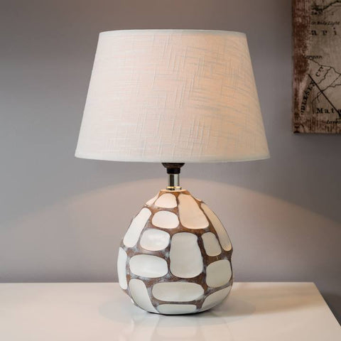 Etched Resin Table Lamp