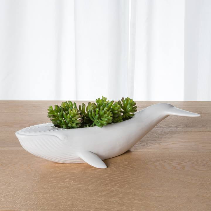 Great Blue Whale Ceramic Bowl