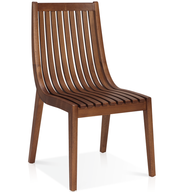 Canalli Curved Slat Back Side Chair
