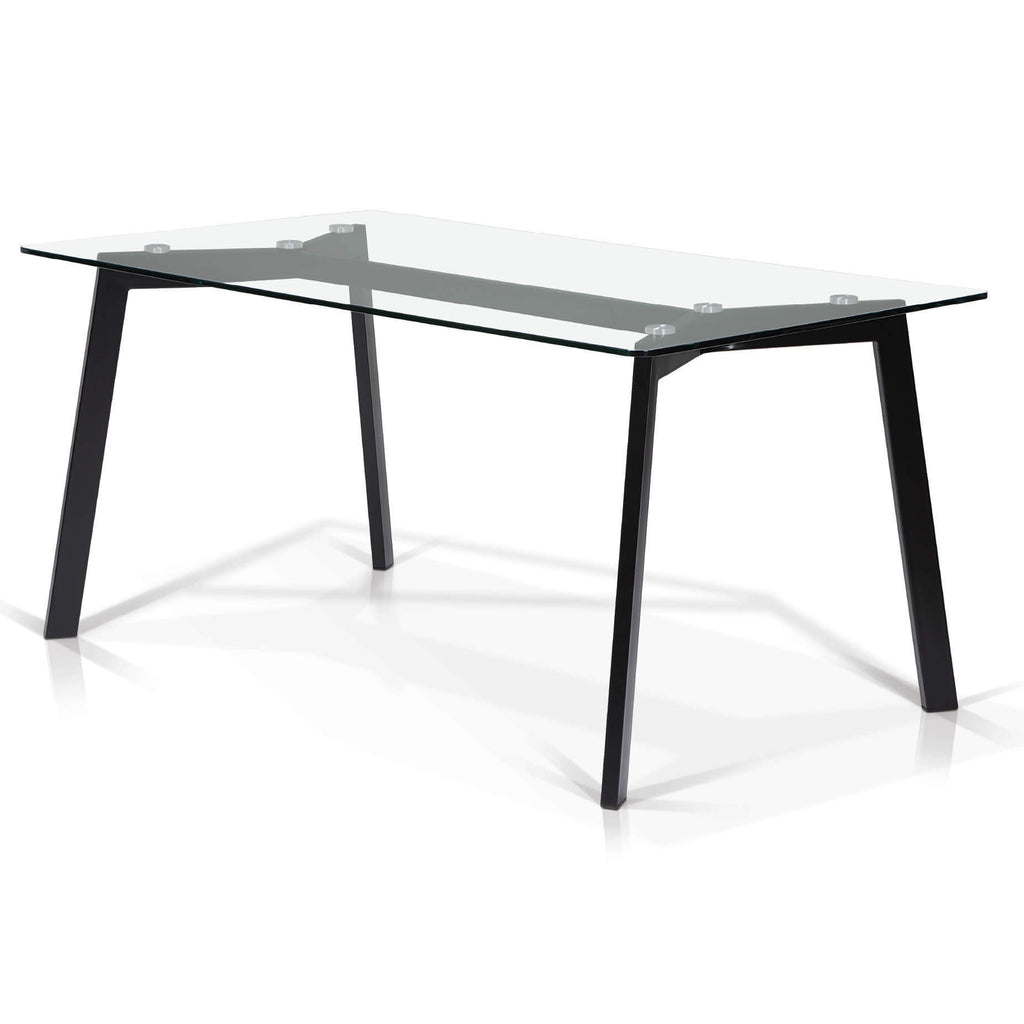 Bates Glass Top Dining Table