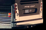 Taillight Cover Set, Polished, PREVOST X3   2800346/7PSCVR