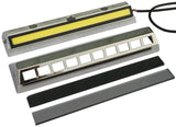 "Cargo Light / Porch Light Assy - LED, Stainless Bezel, Rectangular Holes (7"")"