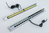 "Cargo Light / Porch Light Assy - LED, Stainless Bezel, Rectangular Grill Design (16"")   IBP25CTBA-C1"