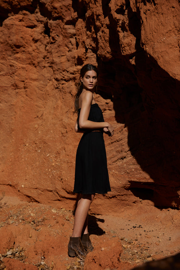 Harper Strapless Dress ~ Black-Dress-Harla