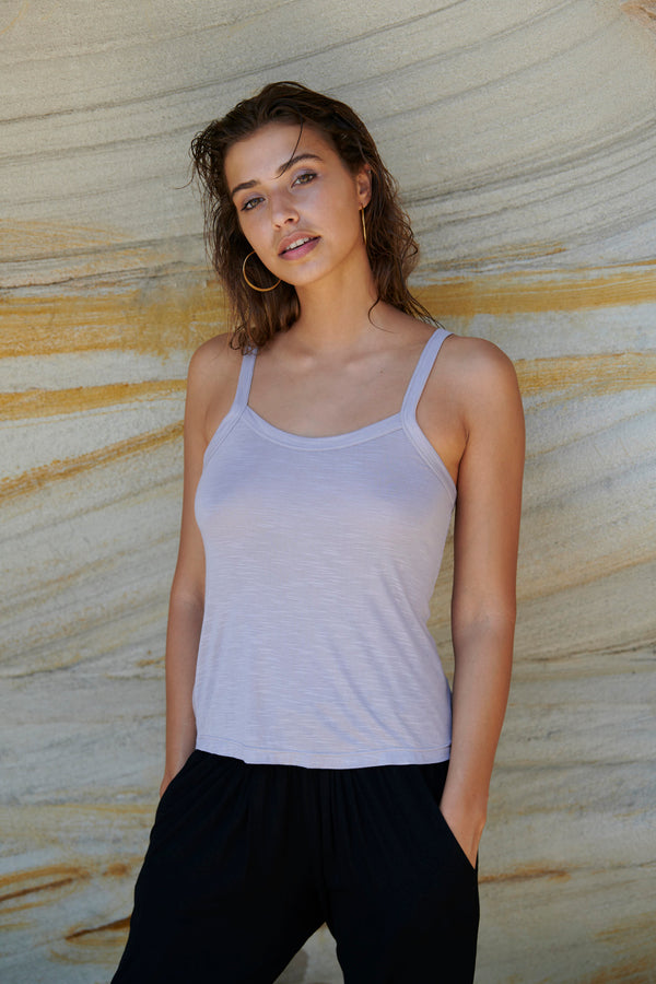 Lilla Singlet ~ Cool Grey-Top-Harla