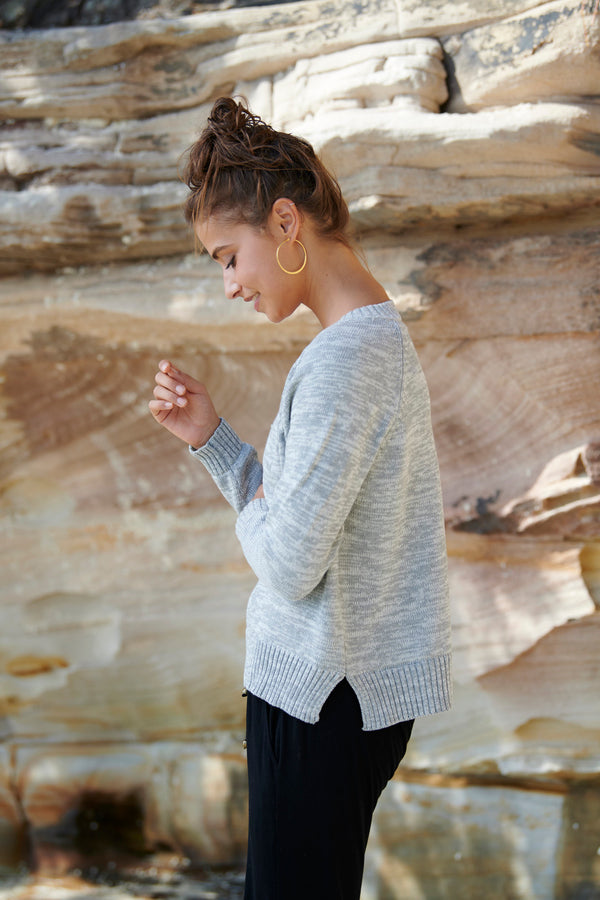 Lola 100% Cotton Knit Sweater ~ 3 colours available-Top-Harla