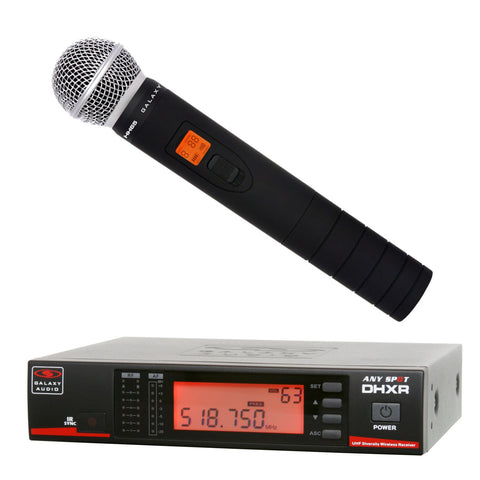 Galaxy Audio DHXR/HH65 Handheld Wireless Microphone System