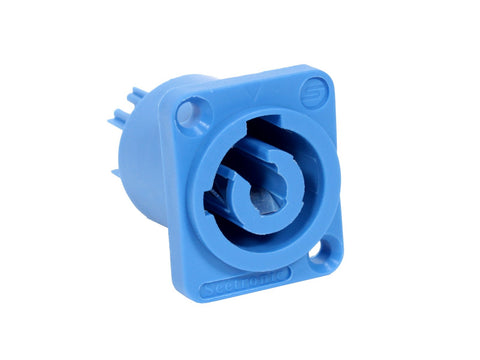 Seetronic SAC3MPA AC Power Connector Blue Panel Mount