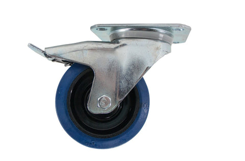 "OSP ATA-BLUE-4-LOCKING Premium 4"" Rubber Caster for ATA Cases and Racks - LOCKING BRAKE"