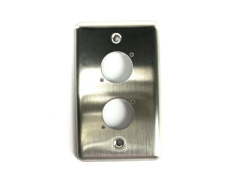 "OSP D-2-BLANK Single Gang Duplex Wall Plate with 2 Series ""D"" Holes"
