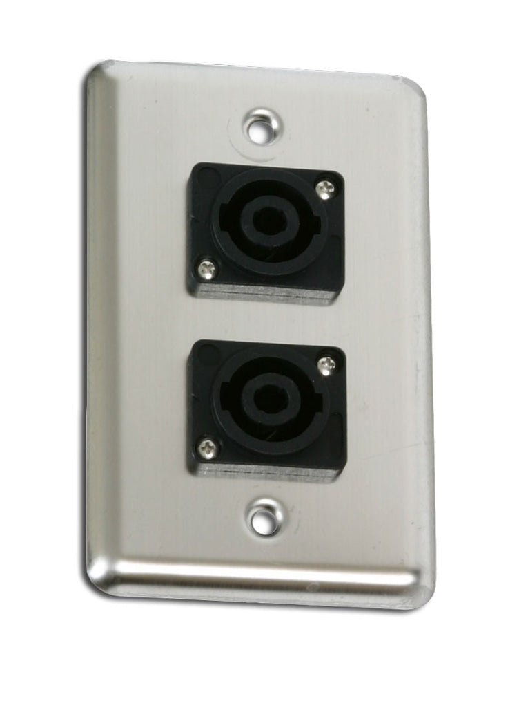 OSP D-2-SPEAKON Single Gang Duplex Wall Plate with 2 Speakons -