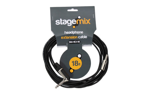 "Elite Core EC-HEX18 Standard 18' Headphone Extension (1/4"" TRS R/A - 3.5MM Female)"