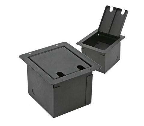 Elite Core FB-BLANK Recessed Floor Box with Customizable Plate