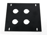 Elite Core FB-PLATE4 Unloaded Plate for Recessed Floor Box